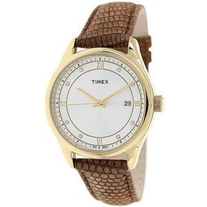 Timex T2P557 Classic Women's Brown Leather Band
